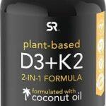 Vitamin D3 + K2 with Organic Virgin Coconut Oil