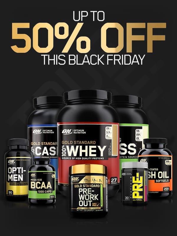 Optimum Nutrition Black Friday / Cyber Monday Sale!